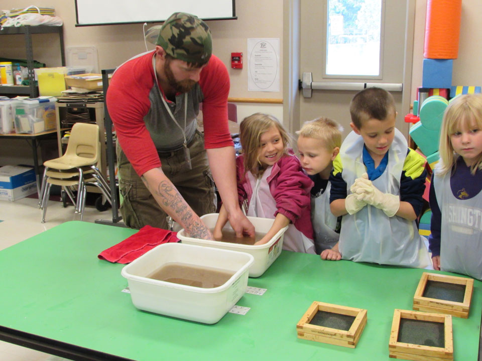 PTPC Visits Chimacum Creek Primary for Papermaking Class